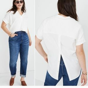 Madewell courier shirt, white